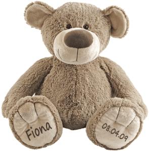 Teddybär mit Namen und Geburtsdatum