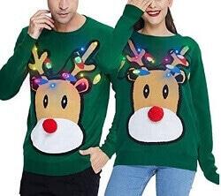 Pärchen Pullover Weihnachten grün